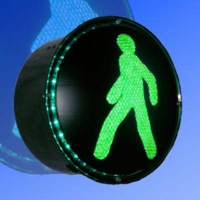 Сигнальный модуль в корпусе пешеходный 200мм зеленый