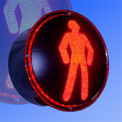 Вкладыш пешеходный 200мм (red,green)