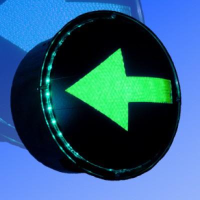 Сигнальный модуль в корпусе транспортный 300мм стрелка зеленая