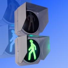 Светофор пешеходный 300мм П.1.2 анимационный с ООВ и звуковым сопровождением металлический (обратный отсчет времени)