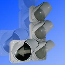 Светофор транспортный 300мм Т.1.2 со стрелкой металлический (левая или правая стрелка)