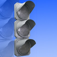 Светофор транспортный 300мм Т.1.2 металлический (вертикальный, горизонтальный)