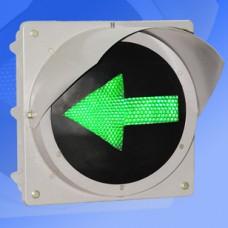 Секция 200мм стрелка зеленая металлическая (левая или правая стрелка)