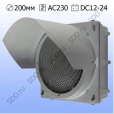 Светофор предупреждающий 200мм Т.7.1 металлический (предупреждающая желтая мигающая секция)