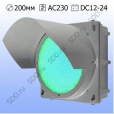 Секция 200мм Т.11.1 зеленая металлическая