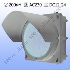Секция 200мм Т.10.1 белая металлическая