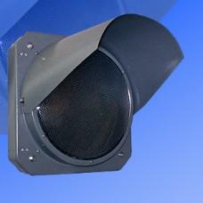 Светофор предупреждающий 300мм Т.7.2 металлический (предупреждающая желтая мигающая секция)